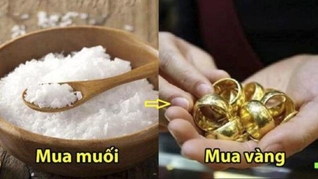 đầu năm mua muối cuối năm mua vàng