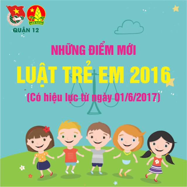 luật trẻ em năm 2016 có hiệu lực thi hành vào ngày, tháng, năm nào?