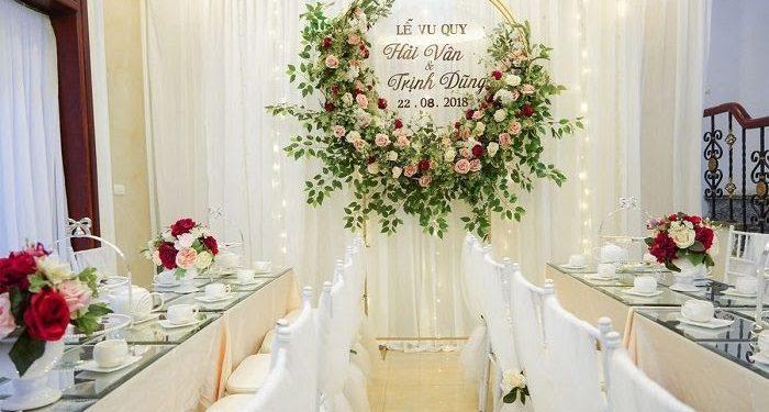 Backdrop được sử dụng để làm phông nền cho đám cưới, đám hỏi